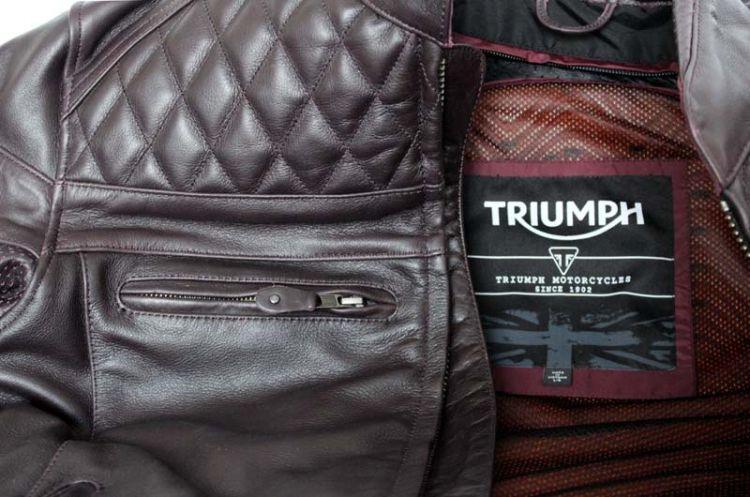 """Test: Triumph Motorrad Lederjacke Modell """"Andorra"""" Quilted"""