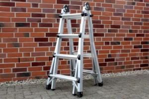 Test: Hailo Alu-Multifunktionsleiter Modell MTL 4x4 für Haus und Garten